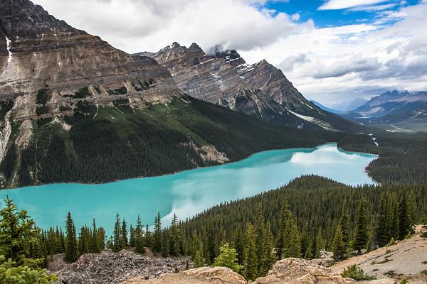 Peyto Lake Banff National Park Canada - Beautiful Lake in the World