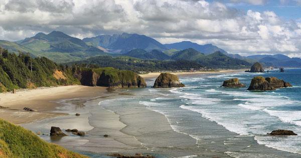 Honeymoon Destinations In Cannon Beach Oregon Aerial